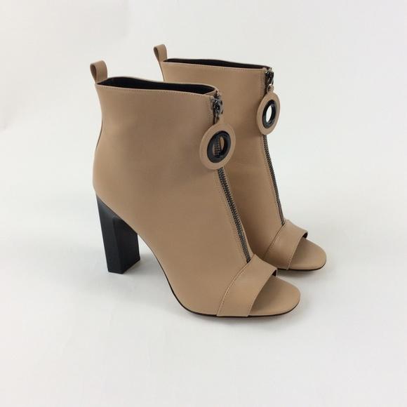 44e881091e533 New Calvin Klein Minda Peep Toe Ankle Bootie